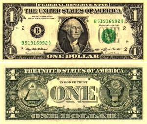 Когда появился первый доллар США?
